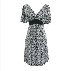 My Michelle floral abstract black white dress